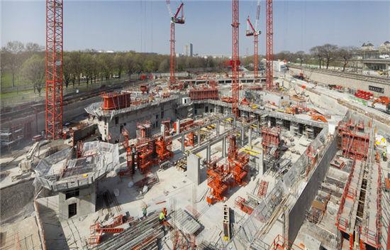 巴黎愛樂音樂大廳建筑施工現場