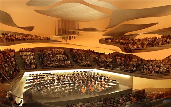 巴黎愛樂音樂大廳內部聲學裝修效果圖