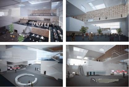 天津图书馆室内效果图