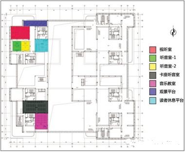 图书馆三层平面设计图