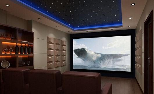 在家庭影院的装修设计中,声学设计直接影响着家庭影院的声