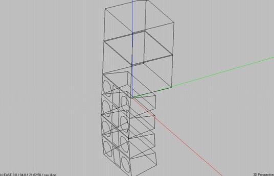 CT-3402*4+CT-1501*2 3D图