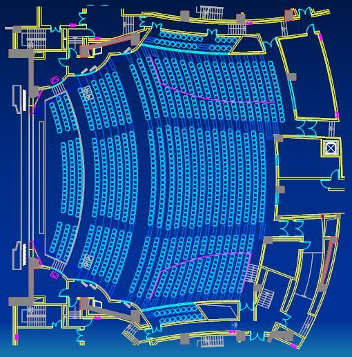 东莞玉兰大剧院坐席平面图